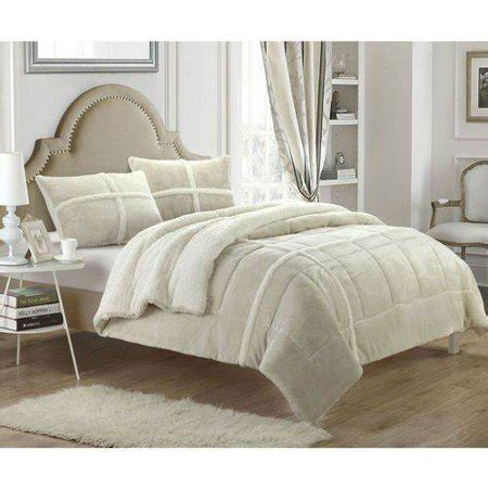 Sherpa Lined Comforter - chiron 7 sherpa lined plush microsuede comforter set
