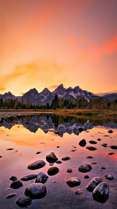 Iphone Nature Wallpapers Sunset Mountain Lake Natural