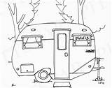 Camper Coloring Pages Rv Travel Trailers Airstream Trailer Printable Embroidery Scotty Adult Campers Etsy Drawing Patterns Serro Camping Line Pattern sketch template