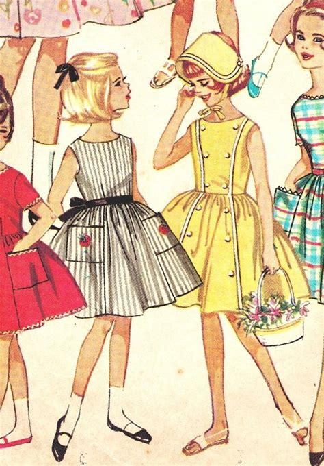 simplicity  vintage early  girls  day wardrobe