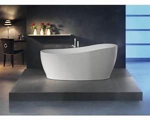 Freistehende Badewanne Mit Füßen : freistehende badewanne sempre 180x85 cm weiss mit ablaufgarnitur klick klack kaufen bei ~ Frokenaadalensverden.com Haus und Dekorationen