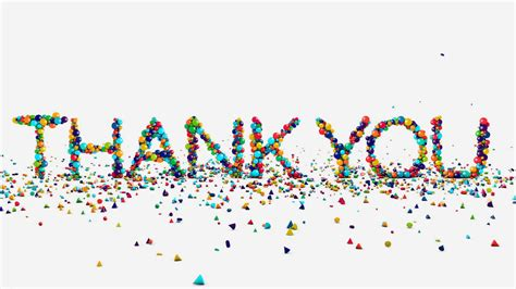 Thank You Wallpaper Animated - motion graphics thank you animation on white motion