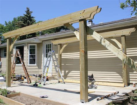 how to build a pergola in two days on a budget detailed