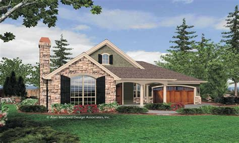 Single Story Cottage House Plans Single Story House, One