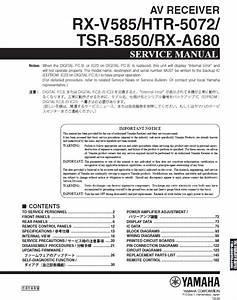 Yamaha Rx Rx Htr05072  Tsr