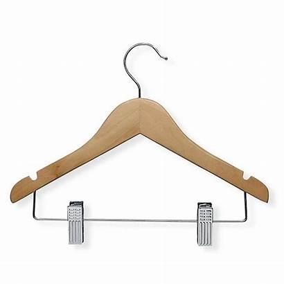 Hangers Hanger Wood Honey Clips Wooden Maple