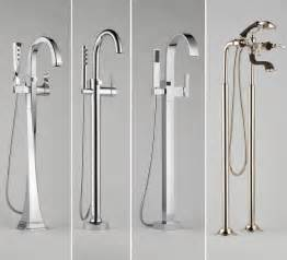 tub fillers freestanding by brizo modern bathroom