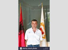 Mr Sokol Lumani the director and general manager posing in