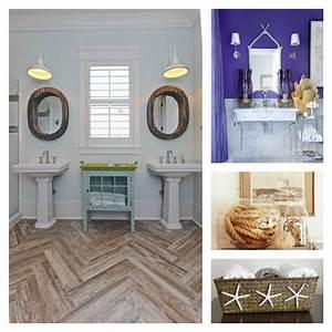 Salle de bain decoration mediterraneenne et bord de mer for Salle de bain design avec golf décoration et accessoires