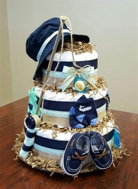 Diy Fishing Boat Diaper Cake by Cake Baby Boy Baby Showers And Boy Babies On Pinterest