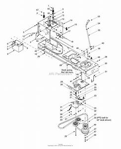 Mtd 13as607h352  2000  Parts Diagram For Pto Drive  Battery  Frame Components
