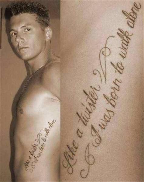 Tattooquoteslike A Twister I Was Born To Walk Alone