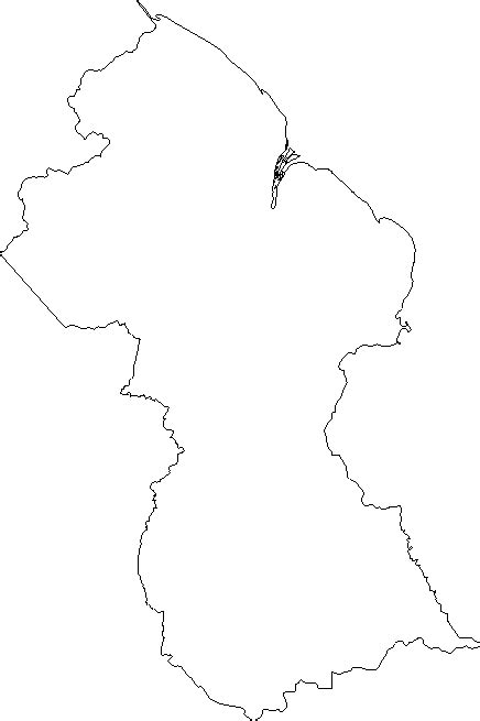 blank outline map  guyana