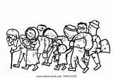 Illustration Refugees Drawing sketch template