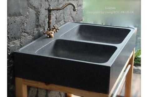 evier cuisine taille 90x60 évier de cuisine en granit véritable karma