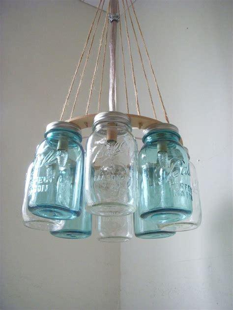 wagon wheel light with mason jars western wear wagon wheel clear and ocean blue quart
