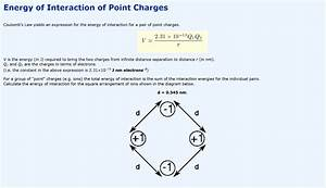 Solved  Energy Of Interaction Of Point Charges Coulomb U0026 39 S L
