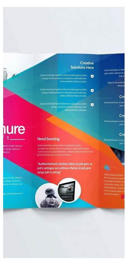 Brochure Template Fold Tri