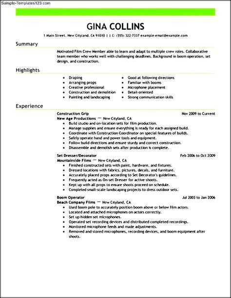 Event Production Resume by Media Production Resume Sle Sle Templates