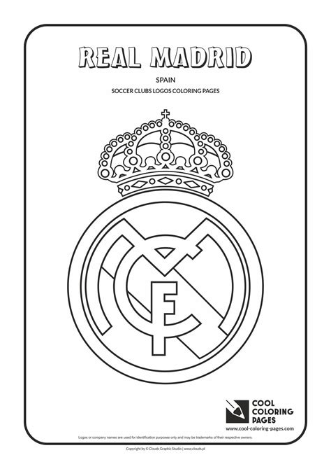 Real Madrid logo coloring pages | Coloring pages, Coloring ...