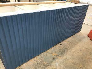 fluted mdf island bench scandinavian profiles machining fabricating building materials