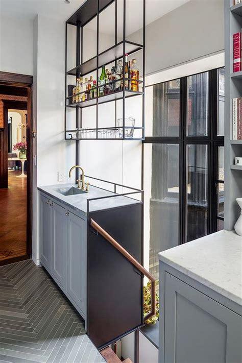 suspended kitchen shelves design ideas