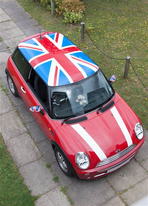 mini graphics union jack roof fitted