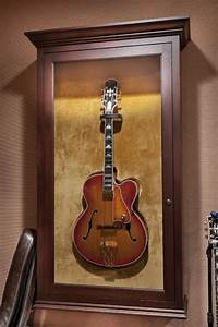 Guitar display cabinet - Traditional - Family Room
