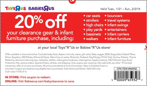 coupons for babies r us canada 2014
