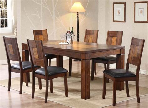 extendable solid timber hardwood dining table set