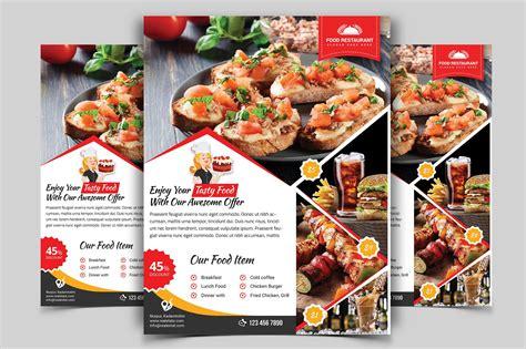 restaurant flyer vol  flyer templates creative market