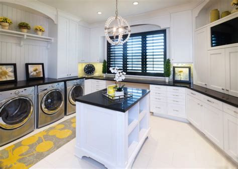 trendy laundry rooms  island