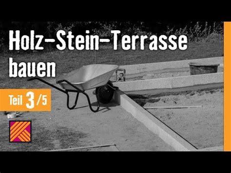 terrasse bauen stein version 2013 holz stein terrasse bauen kapitel 3 randsteine mittelabtrennung setzen