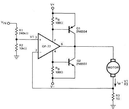 Operational Amplifier Motor Driver