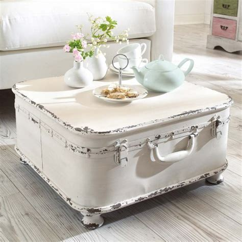 shabby chic tables coffee table side table quot suitcase quot with storage shabby chic metal white