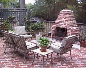 Brick Terrace Designs - Native Home Garden Design
