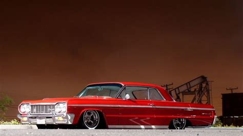 Chevrolet Impala Tuning Low Red Classic Muscle Cars