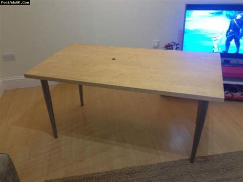 Ikea Desk Top Wood by Ikea Desk Wooden With Metal Legs Large Wood Table Dining