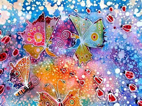 batik artists famous batik butterfly  lady birds