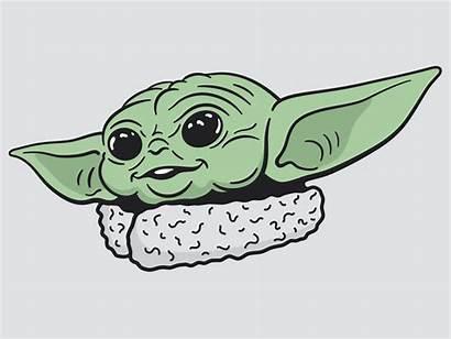 Yoda Sticker Dribbble Noggin