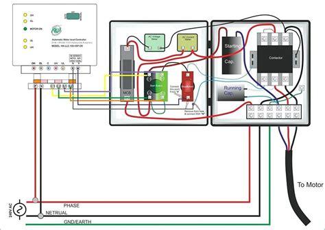 single phase submersible starter wiring diagram