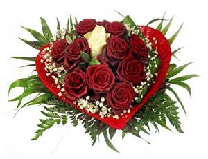 strauß lovely rote mit einer weißen in der mitte - Erster Hochzeitstag Geschenk