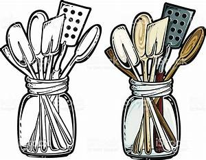 Kitchen utensils stock vector art more images of antique for Vintage küchenutensilien