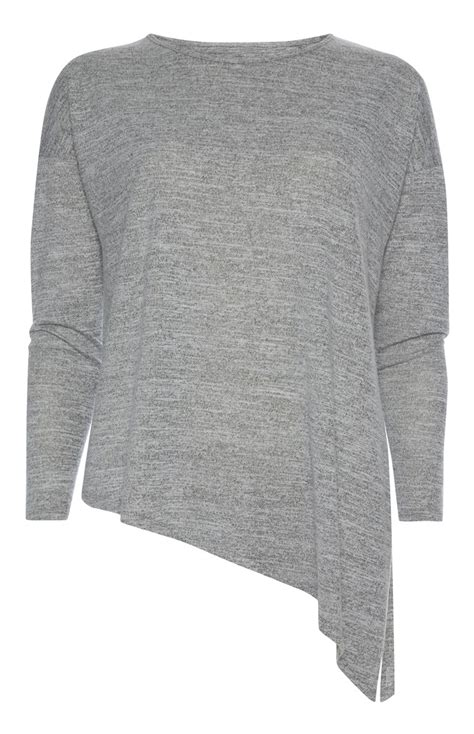 An Exceptional And Beautiful Grey Asymmetric Long Sleeve ...