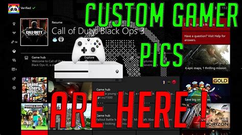 How to get a Custom GamerPic on XboxOne | April 2017 - YouTube
