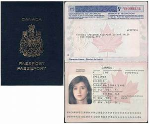 Fake Canadian Passport Template | Business Template