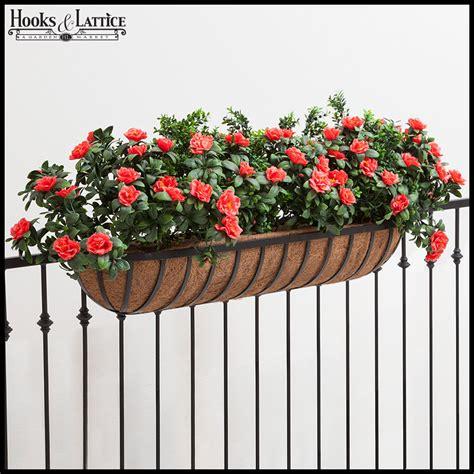 rail hanging planters planters for deck railings hayracks hooks and lattice