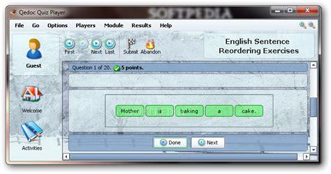 English Sentence Reordering Exercises Download