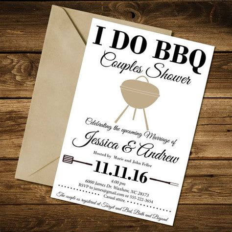 Couples Shower Invitation I Do BBQ Couples by