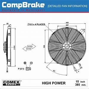 Comex 12v High Power Cooling Fan 15 2 U0026quot   385mm  Puller  Sucker